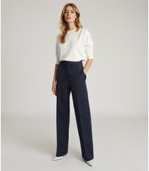 reiss otis - wide leg tailored pants in, womens, size 14