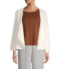 eileen fisher women's organic cotton & recycled nylon open-front cardigan - white - size xl