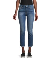 7 for all mankind women's kimmie mid-rise cropped jeans - charleston - size 24 (0)