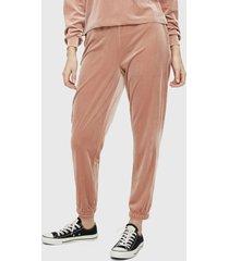 pantalón pieces rosa - calce regular
