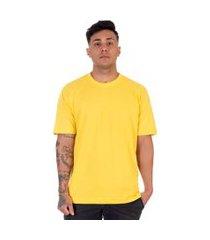 camiseta lucas lunny t shirt gola redonda amarela