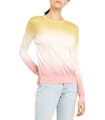 women's theory dual ombre linen blend sweater
