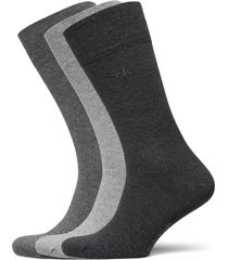 ck 3pk eric cotton 003 underwear socks regular socks multi/mönstrad calvin klein