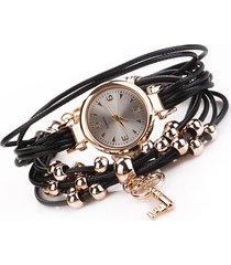 orologio da polso con cinturino in oro a forma di orologio da donna con cinturino a pendente