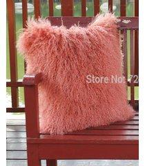 real mongolian lamb pillow cover case tibetan cushion pillowcase tibet sheepskin