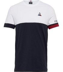 tri tee ss n1 m t-shirts short-sleeved multi/mönstrad le coq sportif