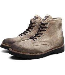bota coturno black boots dublin camurça masculina