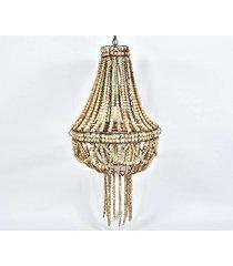 lampa wisząca drewniana rustic