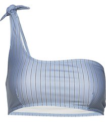 carlis bikini top aop 11032 bikinitop blå samsøe samsøe