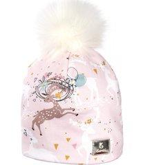 czapka zimowa lila