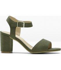 sandali  con tacco (verde) - bpc selection