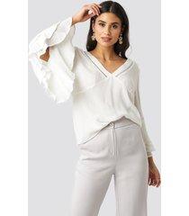 rut&circle romantic blouse - white