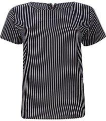 blusa cremallera trasera color negro, talla 10
