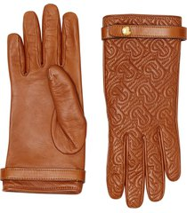 burberry quilted monogram gloves - brown