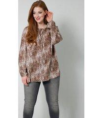blouse sara lindholm beige::bruin