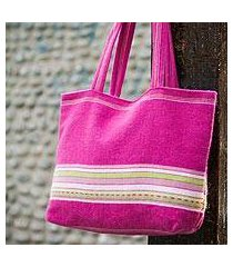 alpaca handbag, 'strawberry lime' (peru)
