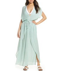 women's elan wrap maxi cover-up dress, size x-large - green (nordstrom exclusive)