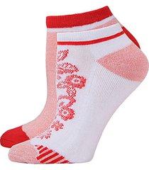 josie floral mix half cushion 4-pack no-show socks