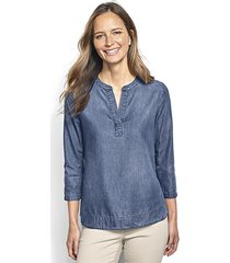 cotton/tencel popover shirt / cotton/tencel popover shirt, large