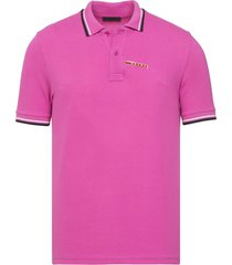brand new mens prada pink signature cotton polo shirt