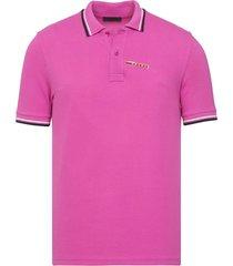 brand new mens prada pink signature cotton polo shirt