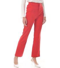 pantalon para mujer en poliester rojo color rojo talla 6