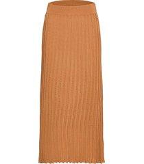 angilia knit skirt knälång kjol brun morris lady