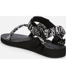 arizona love women's trekky platform sandals - black bandana - uk 7