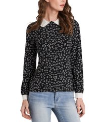 riley & rae opal ditsy-print collared blouse, created for macy's
