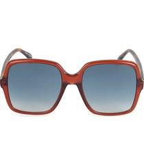 55mm oversized square sunglasses
