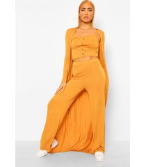 hemdje, broek en duster jas set, butterscotch