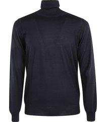 paolo pecora rib knit turtleneck plain pullover