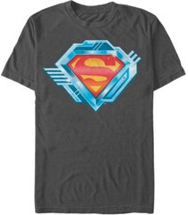fifth sun dc men's superman chrome logo short sleeve t-shirt