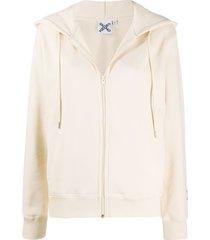 kenzo cross logo hoodie - neutrals