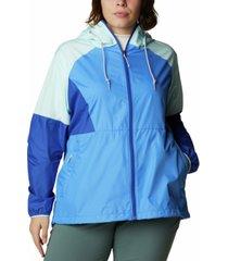 columbia plus size active side hill colorblock windbreaker jacket