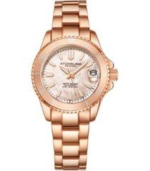 stuhrling women's rose gold stainless steel bracelet watch 32mm