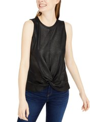 inc croc-embossed twist-front top, created for macy's