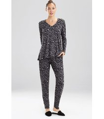 wild instinct pajamas, women's, grey, size l, n natori