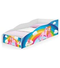 cama solteiro play princesa unicórnio arco íris casah
