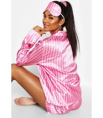 5-delige gestreepte pyjama set, roze