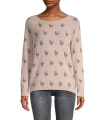 karly skull-print cashmere sweater