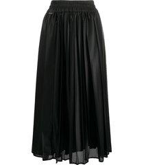moncler mesh midi skirt - black