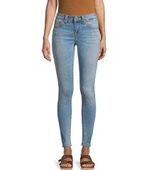true religion women's jennie curvy mid-rise skinny jeans - sky light - size 30 (8-10)