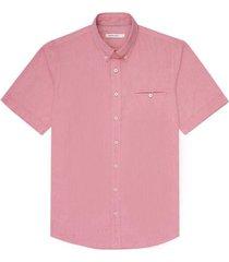 camisa manga corta unicolor para hombre 03680