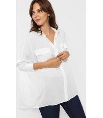 camisa blanca odas oversize cargo