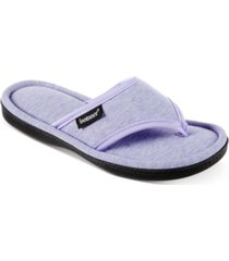isotoner signature women's jersey cambell thong slippers with memory foam
