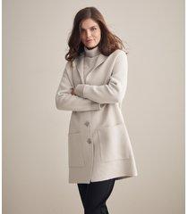 cappotto bicolor rever