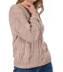 sweater acuario beige guinda