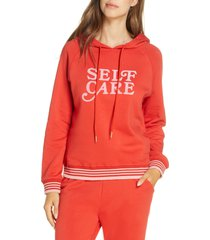 ban. do self care lounge hoodie, size small in red at nordstrom