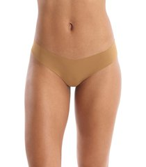 women's commando thong, size small/medium - beige